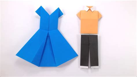 paper dress craft how to make origami dress easy tutorial for beginners