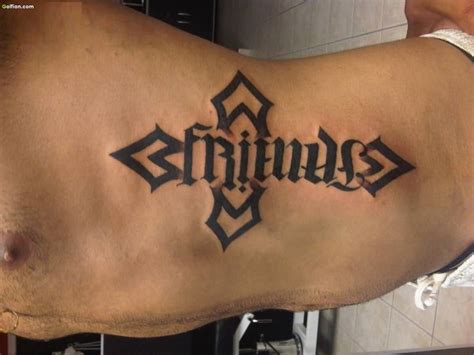 cross rib tattoo 45 attractive ambigram rib tattoos beautiful ambigram