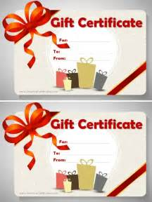 Gift Template by Free Gift Certificate Template Customizable