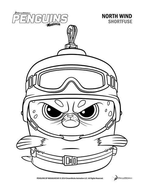 penguins movie coloring pages free printable penguins of madagascar activity sheets