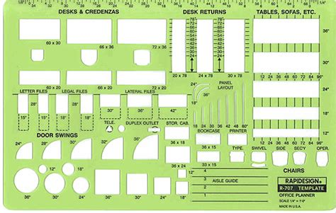 Office Furniture Layout Templates rapidesign r 707 office design planner template office furniture drawing stencil