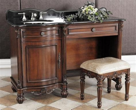 bathroom vanity with dressing table nicole single 55 inch bathroom vanity dressing table