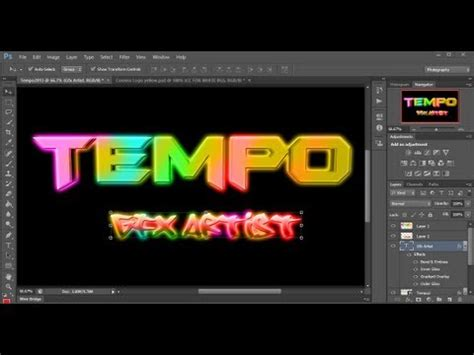 how to make cool neon text glow effect in photoshop cs6