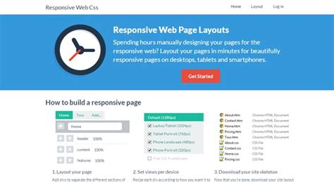 page layout web based 20 best css tools for easy web development creativecrunk