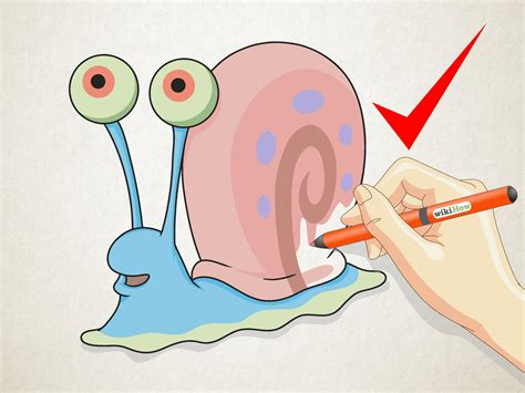 gary the how to draw gary the snail from spongebob squarepants 6 steps