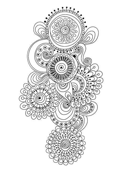zen patterns coloring pages zen antistress abstract pattern inspired by flowers 10 by
