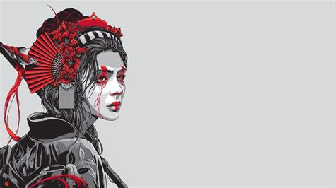 geisha tattoo wallpaper top japanese geisha girl art wallpapers