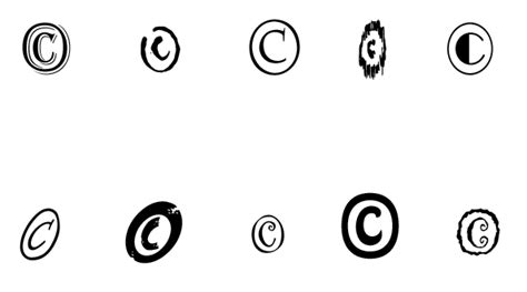 how to make the copyright symbol on windows mac and ipad