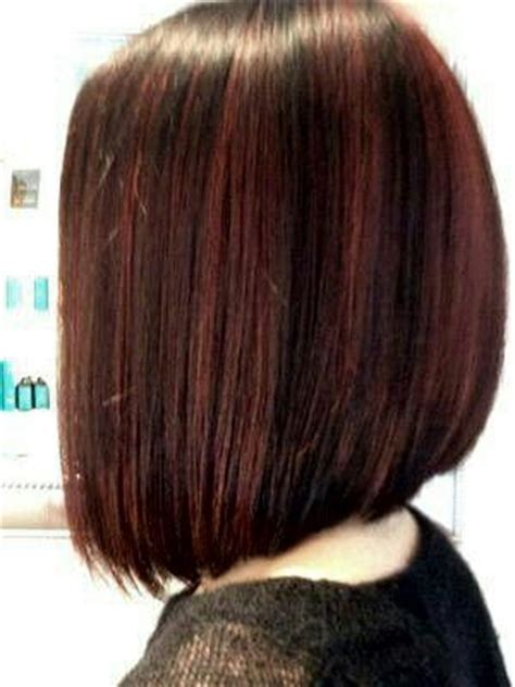 short beveled hairstyles beveled a line bob with slightly shattered ends hair