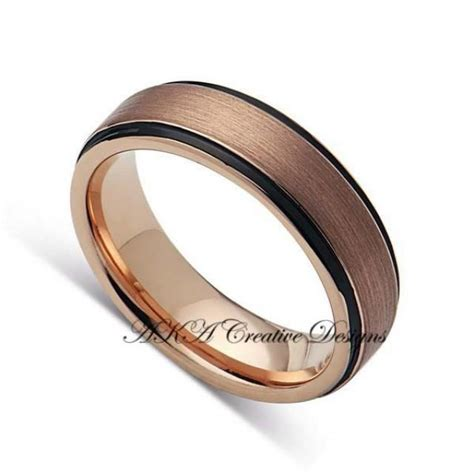 Two Metal Wedding Rings by Mens Tungstenband 6mm Two Tone Black With Gold Mens