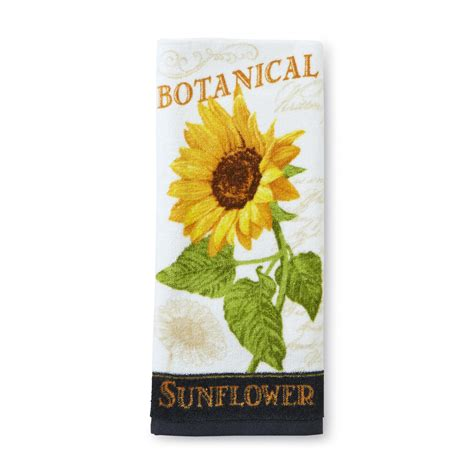 Sunflower Kitchen Towels by Essential Home Kitchen Towel Sunflower Home Kitchen