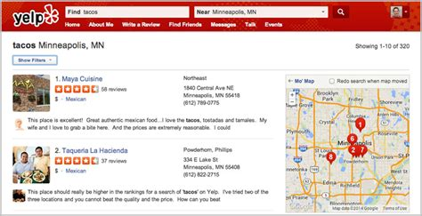 Search For On Yelp The Power Of Yelp Shows On Local Search And Mobile Click Testaaron Weiche