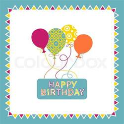happy birthday card design with balloons creative greeting card template postcard in retro