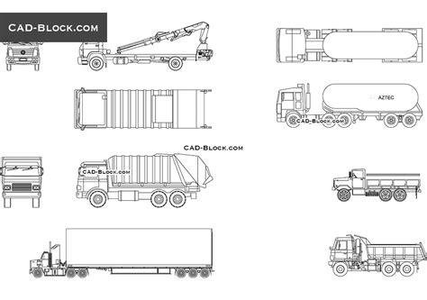 truck templates for autocad trucks cad blocks autocad drawings download