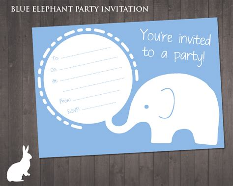 printable elephant birthday invitations free party printables ruby and the rabbit page 2