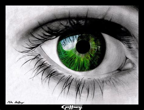 drawings with color colored pencil green eye by thegaffney on deviantart