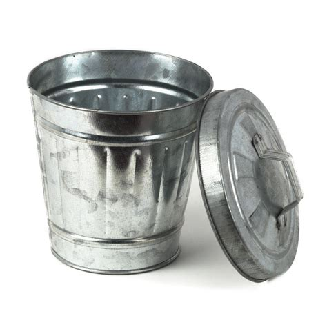 Small Metal Trash Cans With Lids Tin Trash Can Pictures To Pin On Pinsdaddy