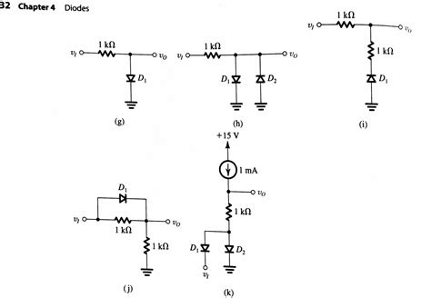 ideal diode circuit in each of the ideal diode circuits shown v1 is a chegg