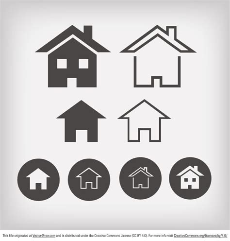 Home Design Vector | free vector home icon designs