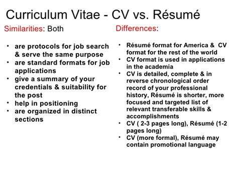 Definition Resume Vs Cv curriculum vitae vs resume curriculum vitae