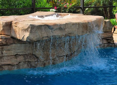rock waterfalls for pools add on features lion pools