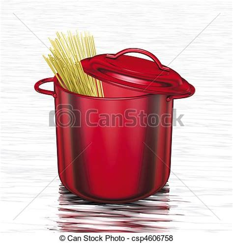 pots stock illustration image 45254770 stock illustration of cooking red pot with spaghetti 3d