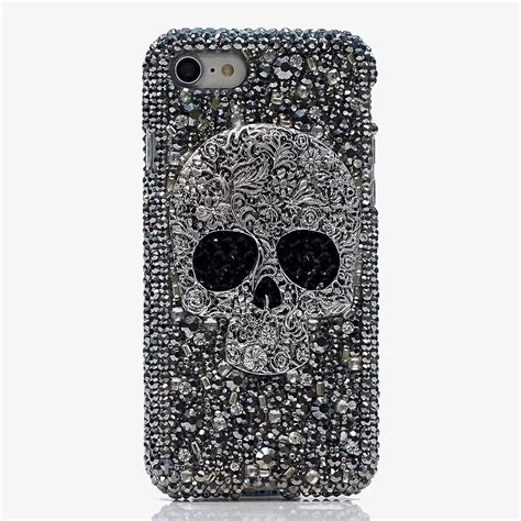 Skull For Iphone 7 bling cases custom made skull crystals for iphone 7