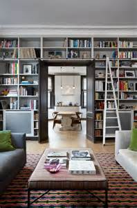 Living Room Bookshelves Library Bookcases With Ladders Tidbits Twine