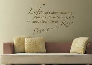 Text quotes learn to dance in the rain wall stickers
