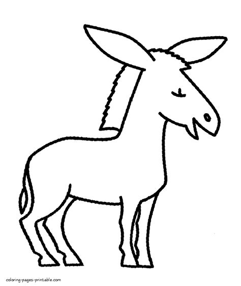 donkey coloring pages preschool donkey coloring page animals picture for preschool
