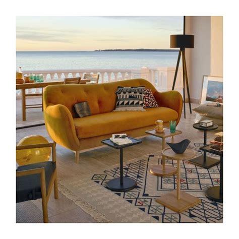 Melchior 2 Sitzer Sofa Aus Stoff Gelb Design By