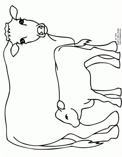 free coloring page cow free coloring pages of a cow outline