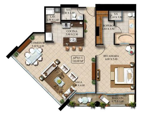 20 Square Feet To Meters 1 bedroom apartments 2 bathroom 2 4 person 110 sq