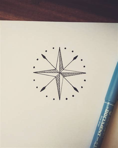 simple compass tattoo design raven from the north just a simple compass tattoo design