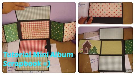 tutorial mini álbum em scrapbook tutorial mini album scrapbook youtube