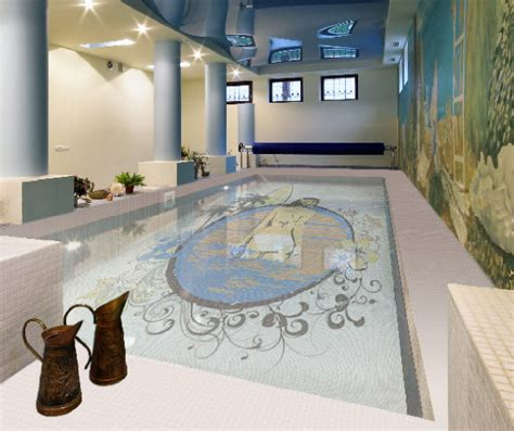 Fascinating Swimming Pool Design With Mosaic Glass Tiles Swimming Pool Tiles Designs