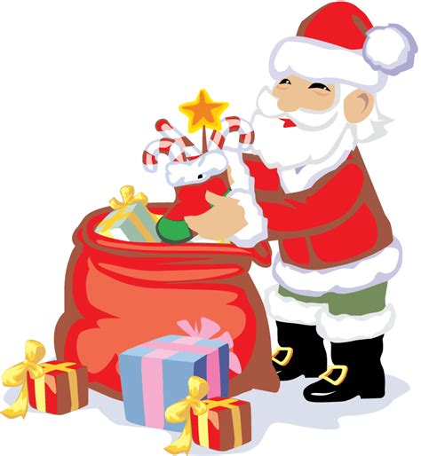 santa with gifts clipart 37