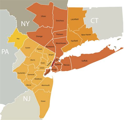 map of areas in nyc image gallery new jersey areas