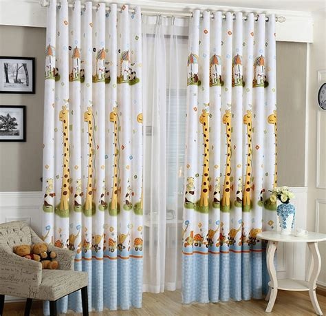 curtains for baby boy bedroom animal print blackout baby infant room curtains children