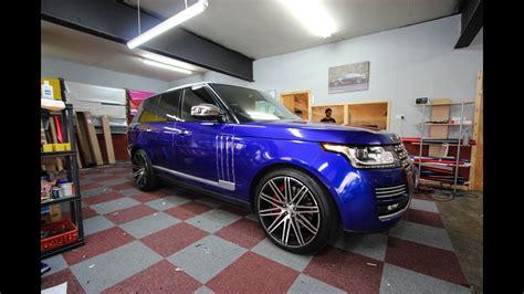 blue range rover vogue range rover vogue raspberry blue wrap
