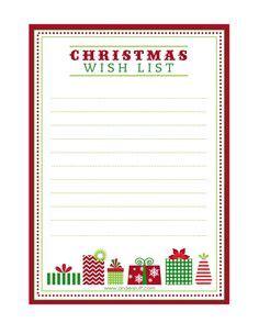 printable christmas  list  kids adults  christmas printables christmas list