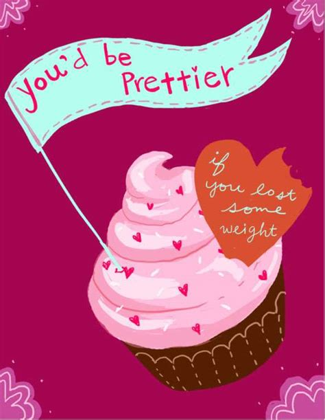 anti s day card with cupcake s day e