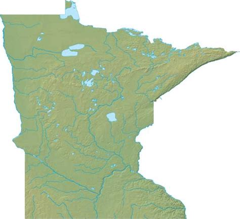 physical map of minnesota minnesota relief map