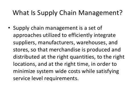 Supply Chain Management Notes For Mba Ou by Mba Ii Pmom Unit 4 4 Supply Chain Management A