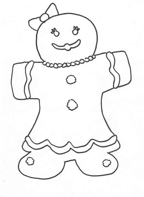 Free Printable Gingerbread Man Coloring Pages For Kids Free Gingerbread Coloring Pages