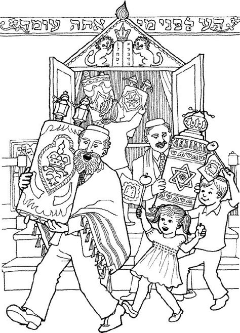 jewish preschool coloring pages 17 best images about judaism shemini atzeret simchat