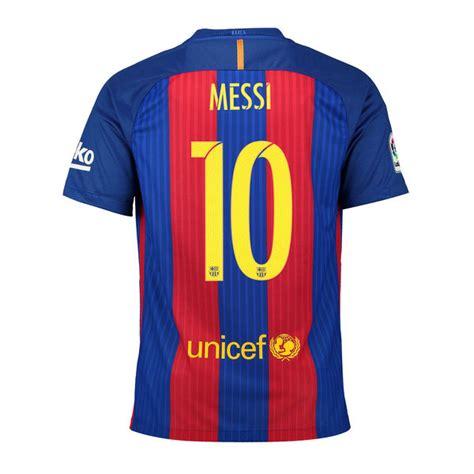 Jersey Sepakbola Barcelona L 10 Messi lionel messi barcelona nike 2016 17 home replica jersey fanatics