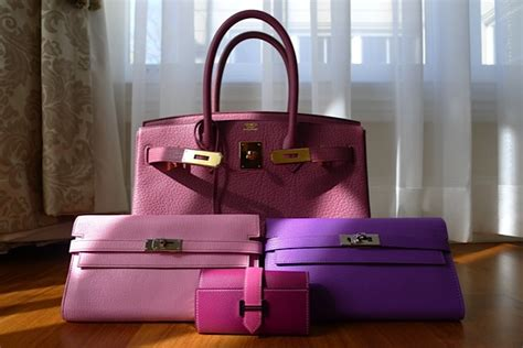 H Mes Birkin Ghillies B30 purple pink color family pics only page 31 purseforum