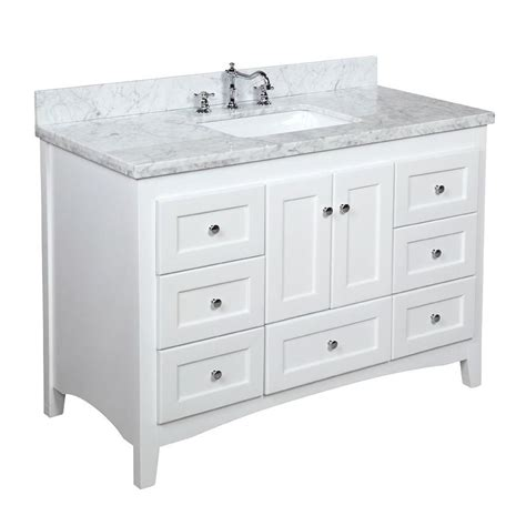 Bathroom Vanity 48 Inch 48 Inch Vanity Carrara White Kitchenbathcollection