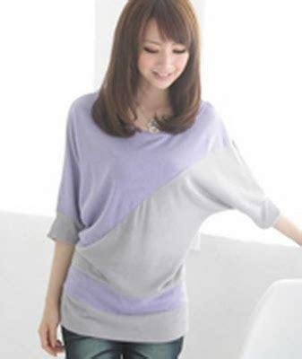 Baju Atasan Tank Top Blouse Merah Hitam Black Wanita Korea Import baju murah blouses cewek warna ungu en3843